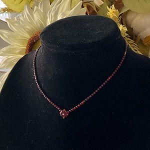 Sorrelli Red Crystal Vintage Look Necklace